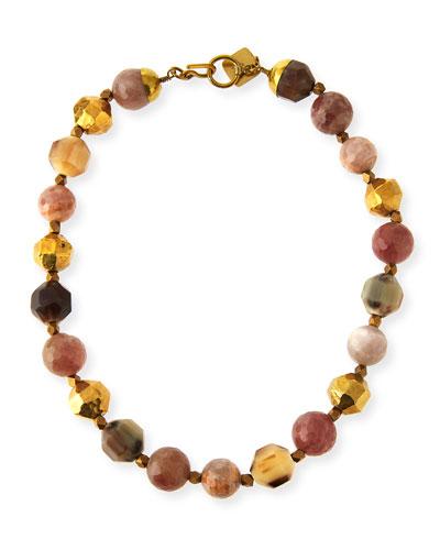 Kamili Mixed Horn Beaded Necklace