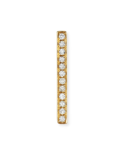 Medium Diamond Bar Single Stud Earring