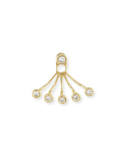 Bezel-Set Diamond Jacket Earring