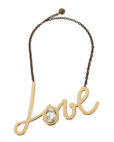 Golden Love Pendant Necklace