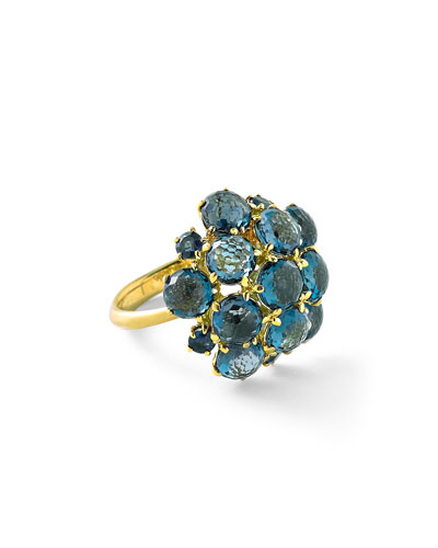 Lollipop London Blue Topaz Bubble Ring