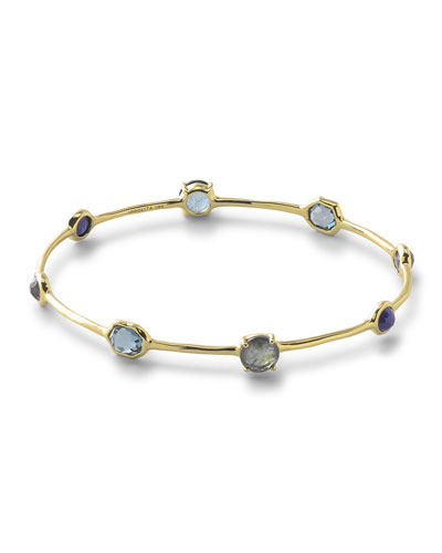 18k Rock Candy® Liberty 8-Stone Bangle