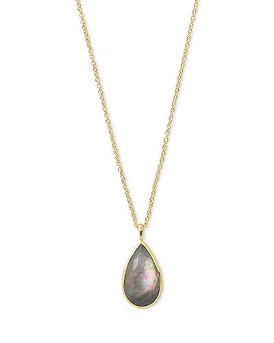 Rock Candy® Teardrop Pendant Necklace in Black Shell