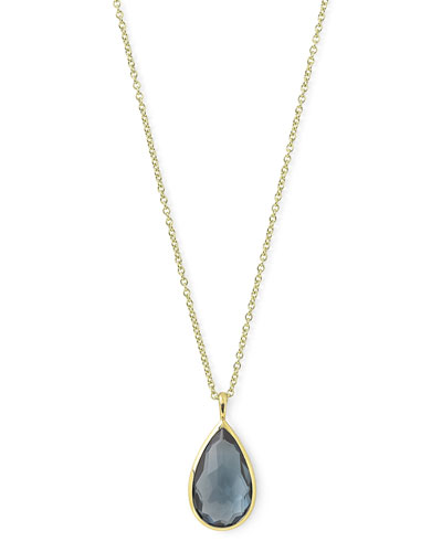 18k Rock Candy® Teardrop Pendant Necklace, Blue