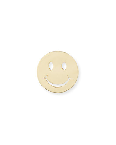 Pure Happy Face Stud Earring