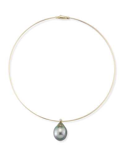Tahitian Pearl & Diamond Collar Necklace