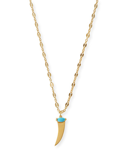 Prudence Turquoise Horn Pendant Necklace