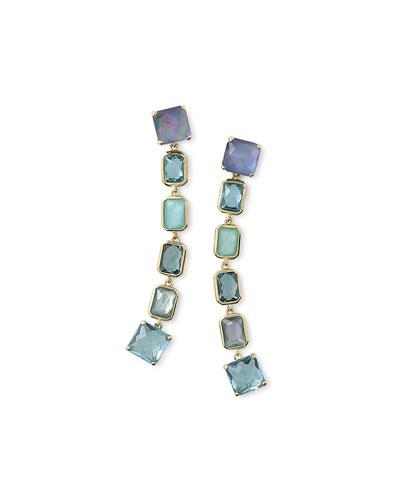 18K Rock Candy Extra-Long 6-Stone Earrings in Waterfall