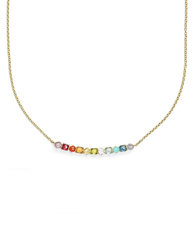 18K Rock Candy 11-Stone Necklace in Summer Rainbow, 18