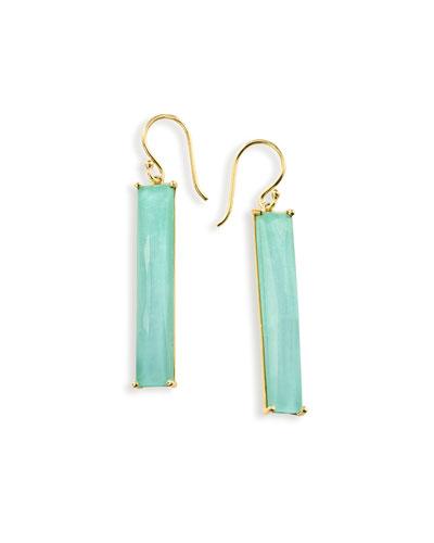 18K Rock Candy Turquoise Doublet Drop Earrings