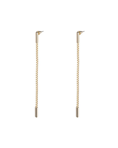 Idle Line Chain Drop Earrings