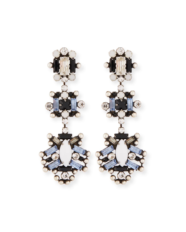 Karlotta Crystal Statement Earrings, Multi