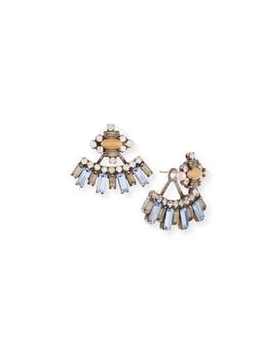 Sorrento Crystal Jacket Earrings, Multi
