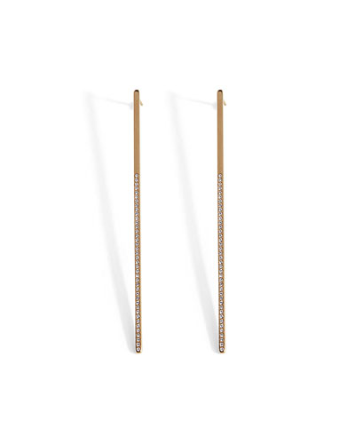 Mini Crystal Bar Earrings