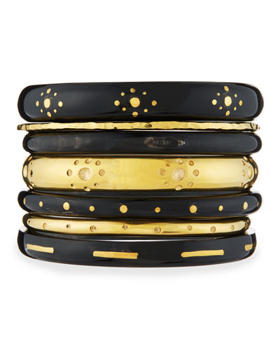 Kaimu Seven-Piece Stacking Bangle Set