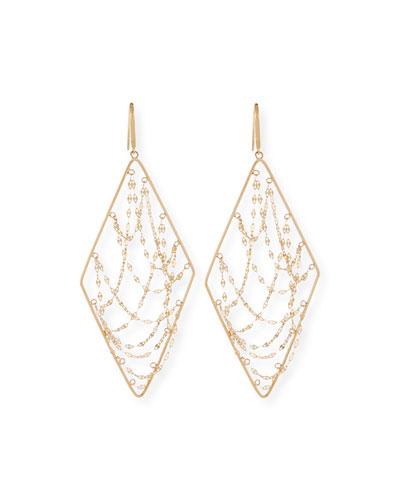 Large 14K Glimmer Chain Drop Earrings