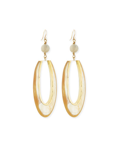 Tajiri Light Horn Drop Earrings