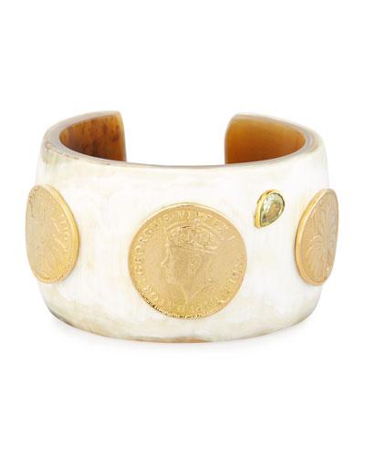 Mpenzi Light Horn, Coin & Crystal Cuff