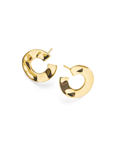 18K Senso™ Open Wavy Disc Earrings