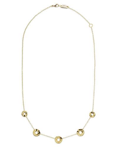 18K Senso™ Disc Five-Station Necklace, 18