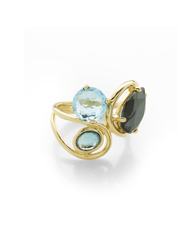 Ippolita 18K Rock Candy Mini Lollipop Ring in Onyx with Diamonds hlSn9tiVMg