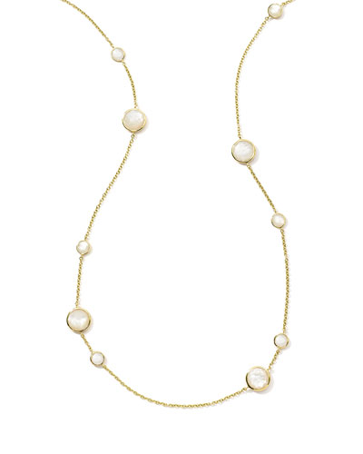 18K Rock Candy Lollipop Necklace in Mother-of-Pearl, 37