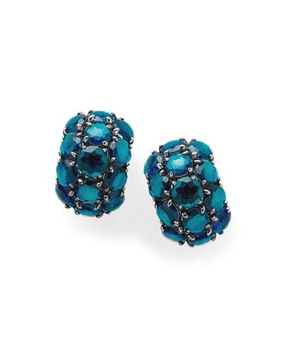 925 Rock Candy Wonderland Cluster Omega Earrings in Frost
