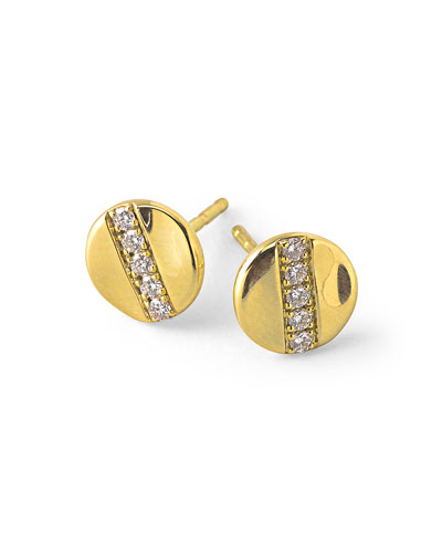 18K Gold Senso™ Stud Earrings with Diamonds