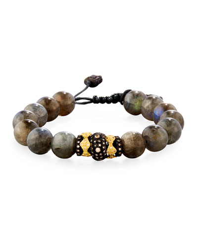 Armenta Old World Midnight Labradorite Bead Bracelet with