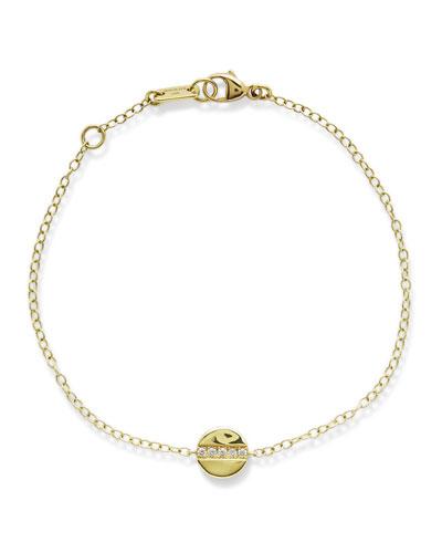18K Senso Mini Disc Bracelet with Diamonds