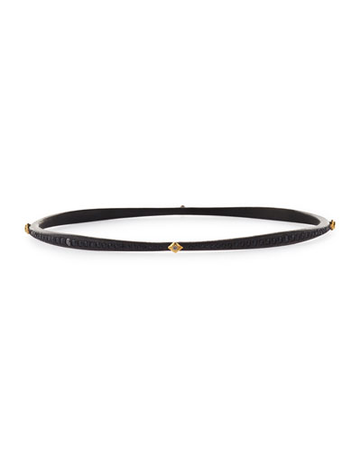 Armenta Old World Crivelli Eternity Bangle with Black