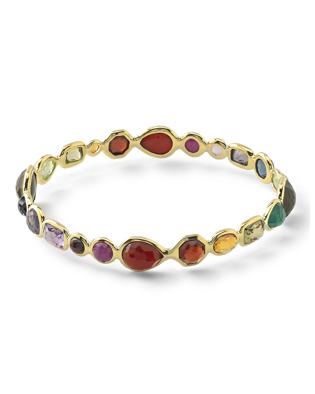 18k Rock Candy Fall Rainbow Bangle Bracelet