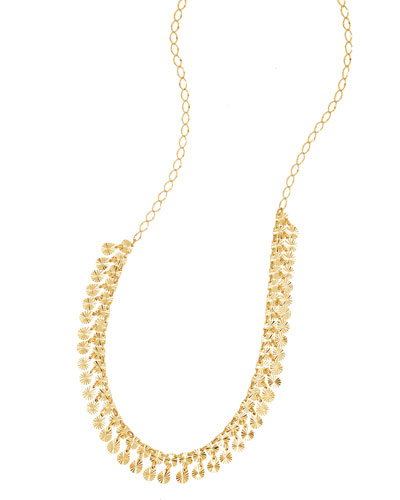 Gloss Dangling Fringe Necklace in 14K Gold