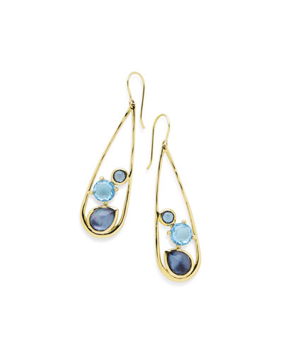 18K Rock Candy Drop Dangle Earrings in Midnight Rain