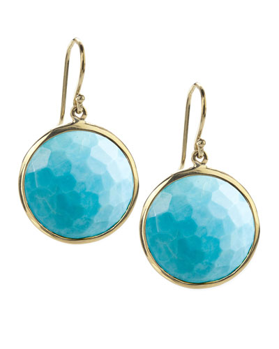 Crystal Lollipop Earrings, Turquoise