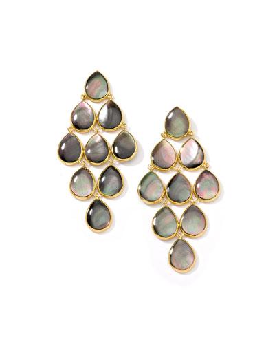 18k Polished Rock Candy Cascade Earrings