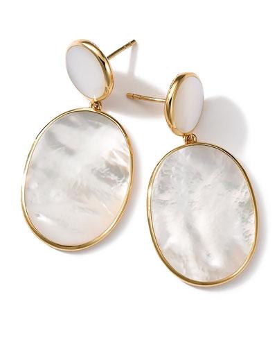 18K Rock Candy Mother-of-Pearl Snowman Earrings