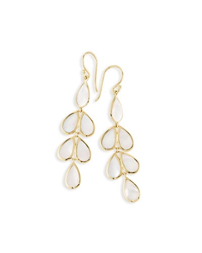 18K Rock Candy Mother-of-Pearl Teardrop Earrings