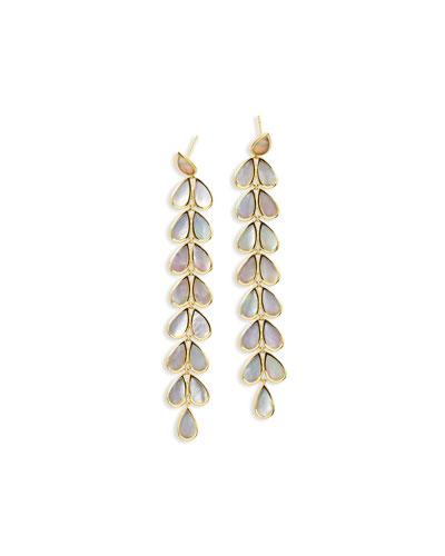 18K Rock Candy Long Mother-of-Pearl Teardrop Earrings