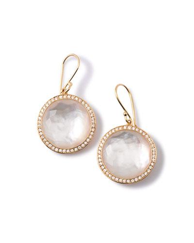 Gold Rock Candy Lollipop Diamond Mother-of-Pearl Earrings