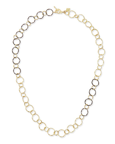 Midnight & 18k Circle Link Necklace