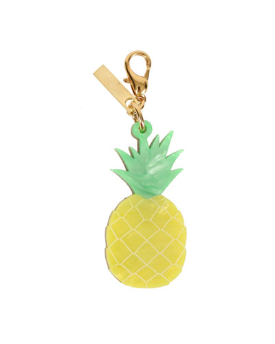 Pineapple Bag Charm, Yellow