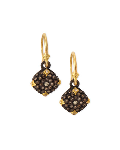 Old World Midnight Diamond Cushion Earrings