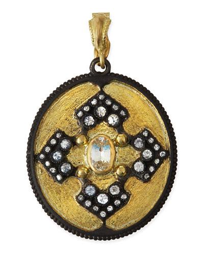 Old World Iris Shield Enhancer Pendant