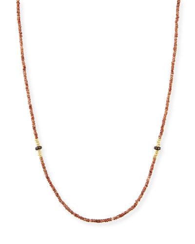Old World Beaded Zircon Necklace with Diamonds, 42