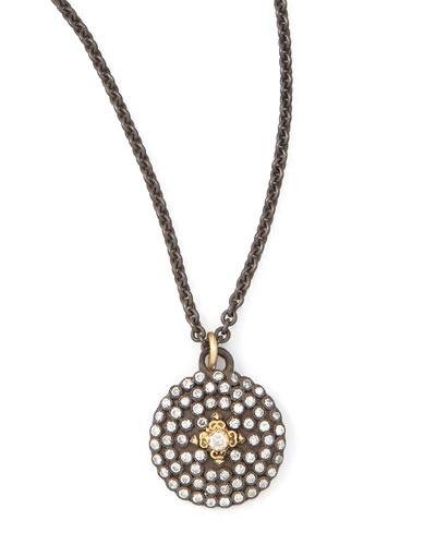 Armenta Pave Diamond Shield Pendant Necklace