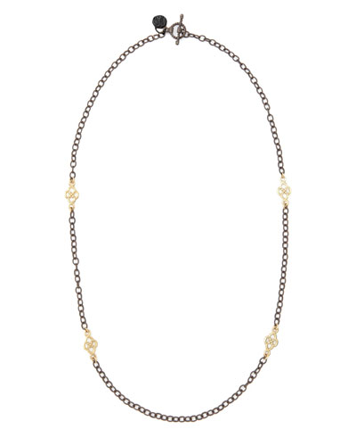 Short Gold-Station Cable-Chain Necklace, 18