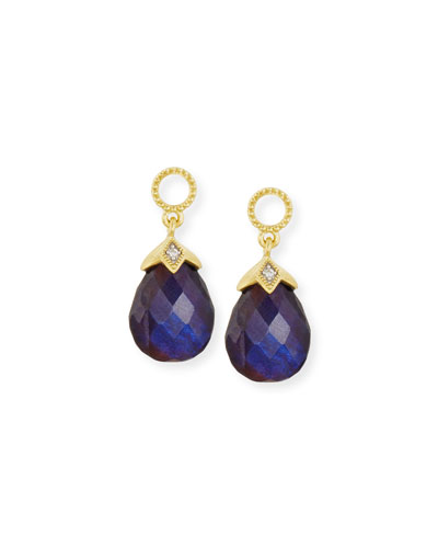 Lisse Black Onyx & Labradorite Earring Charms