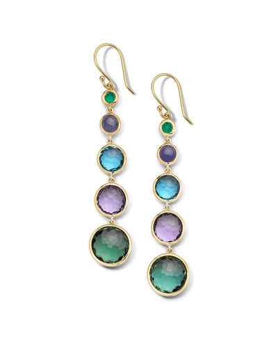 18k Gold Rock Candy Lollitini Earrings in Hologem