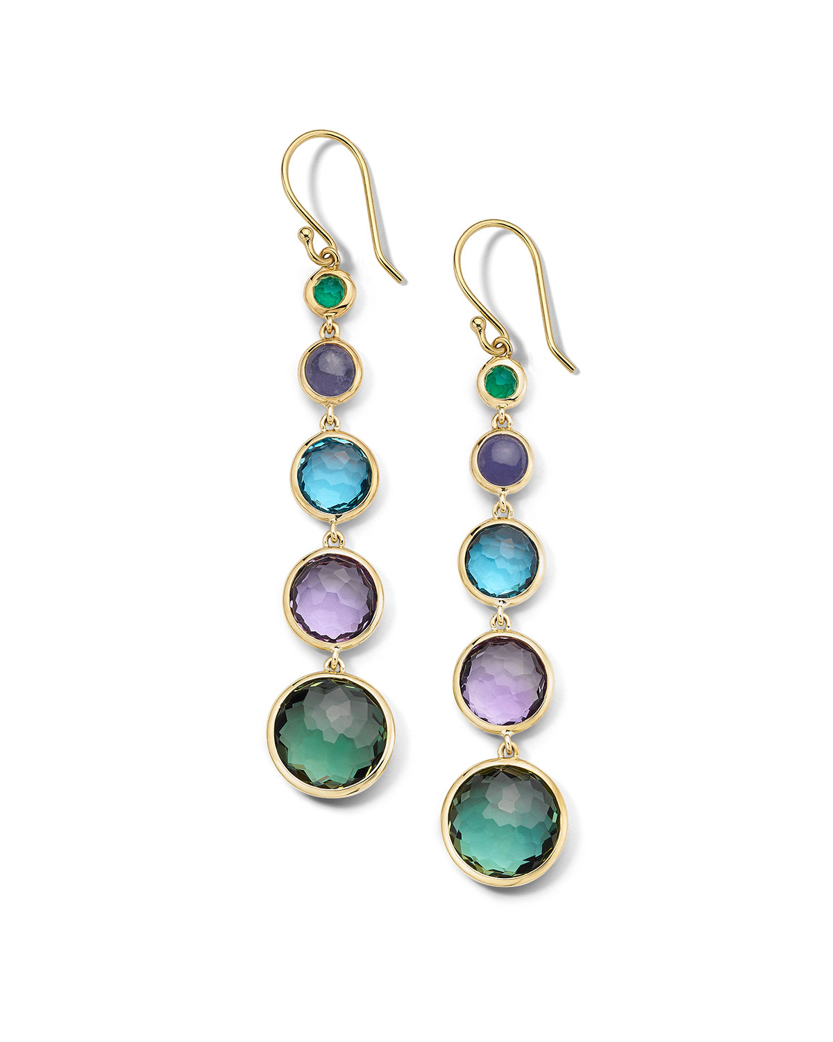 Ippolita Accessories 18K GOLD ROCK CANDY LOLLITINI EARRINGS IN HOLOGEM